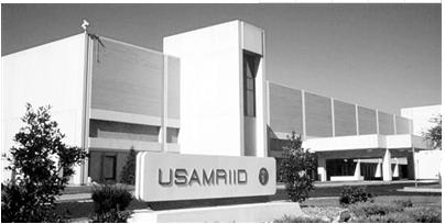 马里兰州德特里克堡的美国陆军传染病医学研究所(USAMRIID)已经全面恢复运行