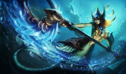 娜美引导着海洋的原始能量,来统御海洋神秘的恢复特性,并号令潮汐本身的狂野能量