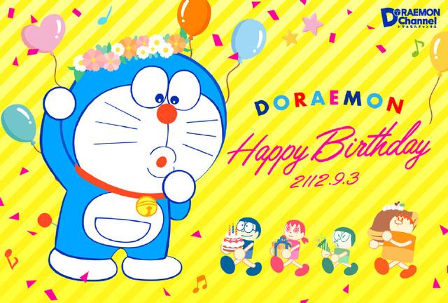 官方发布了贺图,为哆啦A梦庆生,也庆贺「哆啦A梦」的50周年