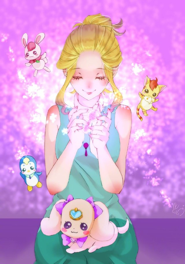 悠木碧公开自己绘制的「光之美少女」角色图,真是全能型艺人啊!