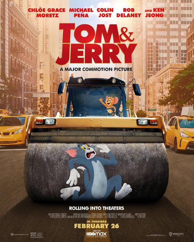 真人动画电影「猫和老鼠」公开全新海报,2021年3月5日在北美上映