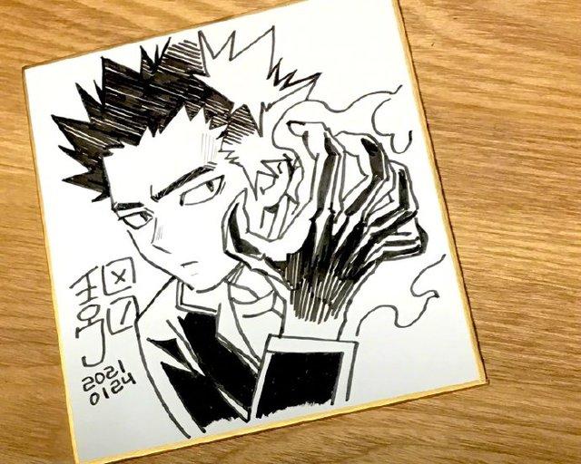 「结界师」作者田边伊卫郎绘制志志尾限色纸公开 对于正守一直保持着尊敬和畏惧的态度