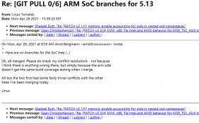 Linux5.13已添加对苹果M1芯片初步支持 且已经被合并到主线