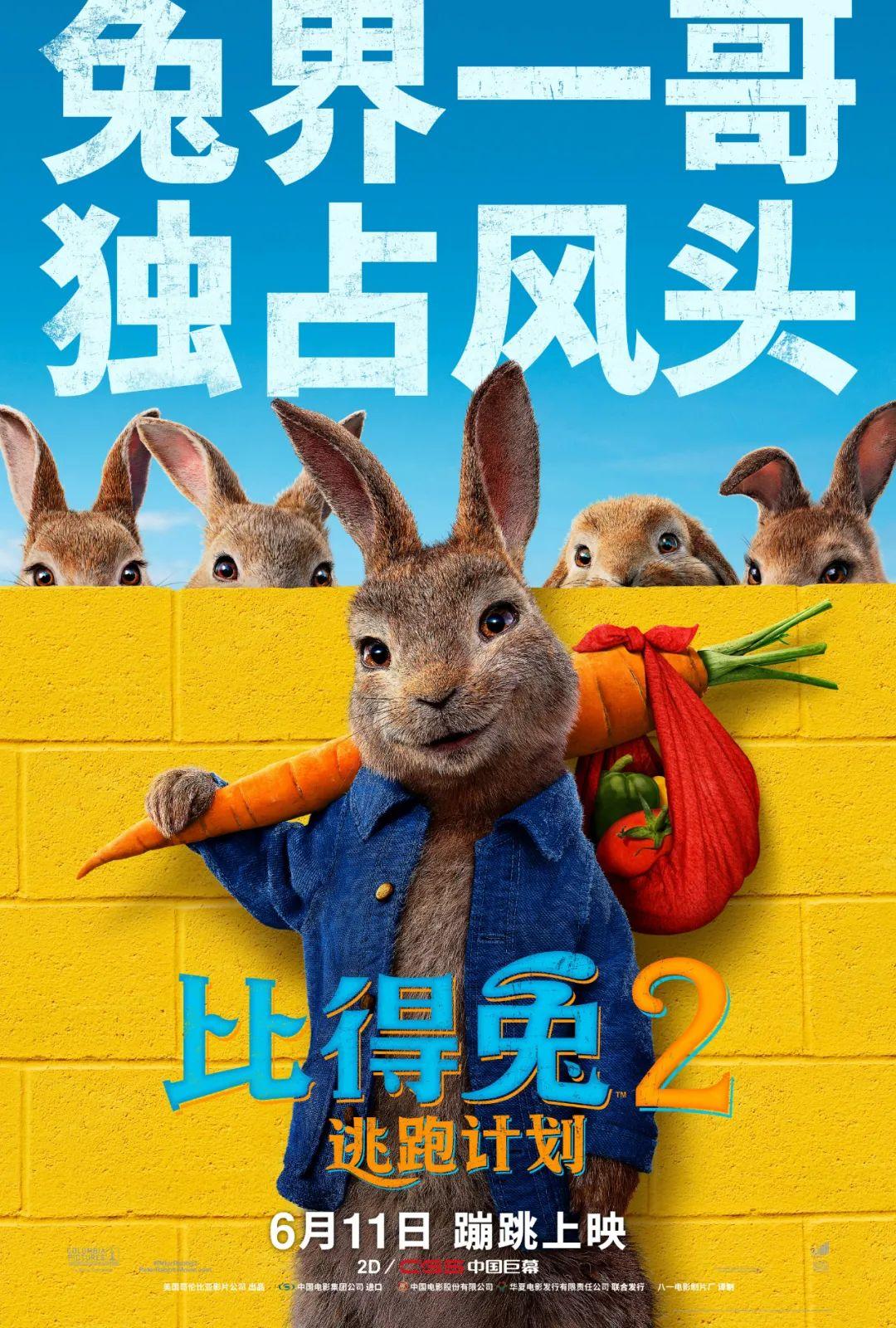 《比得兔2:逃跑计划》内地定档6月11日