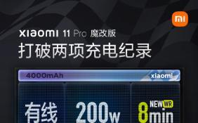 小米再创手机充电新纪录 8分钟充电100%有线充电进入十分钟时代