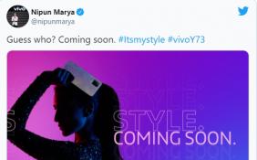 vivo印度公布vivo Y73 手机预告 将采用后置三摄像头方案