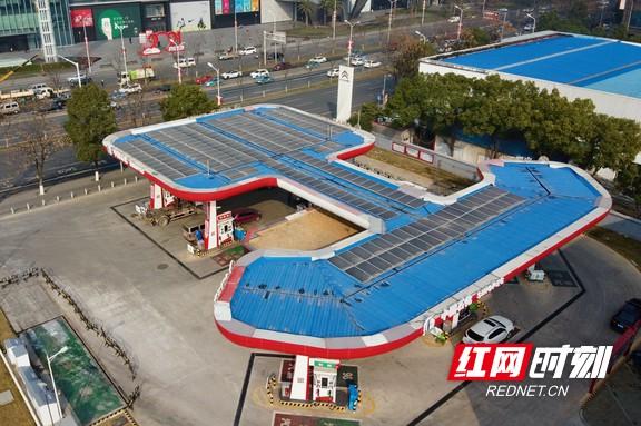 长沙第一座光伏发电加油站投运虽未满1年已发电7万度
