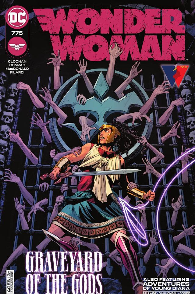 DC漫画官方公开了「神奇女侠」的第775期的正式封面
