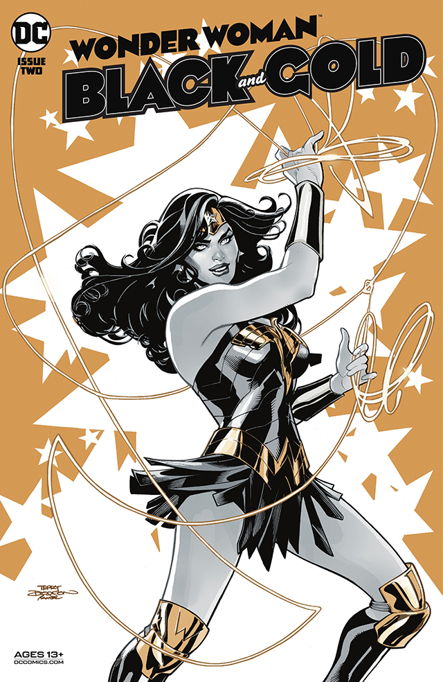 官方公开了神奇女侠的个人单刊「神奇女侠:黑与金」第二期正式封面