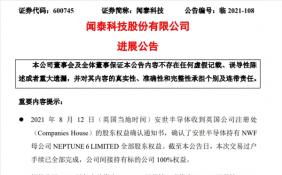 闻泰科技间接持有NWF 100%权益 跨国收购尘埃落定