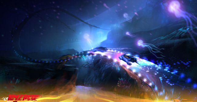 原创动画电影《记忆修复》发布了赛道概念设计图