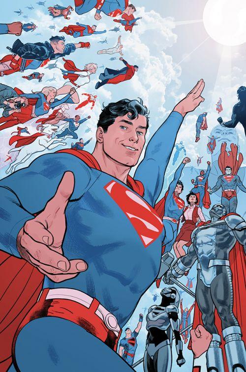 DC漫画官方公开了「超人:红与蓝」的第六期正式封面