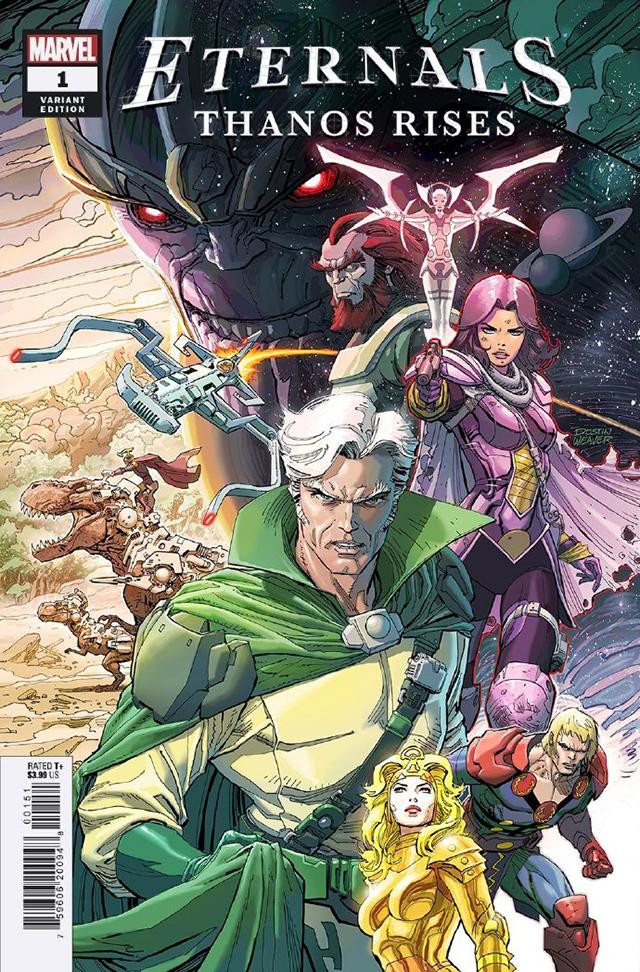 漫威漫画公开了全新单刊「永恒族:灭霸崛起」的变体封面