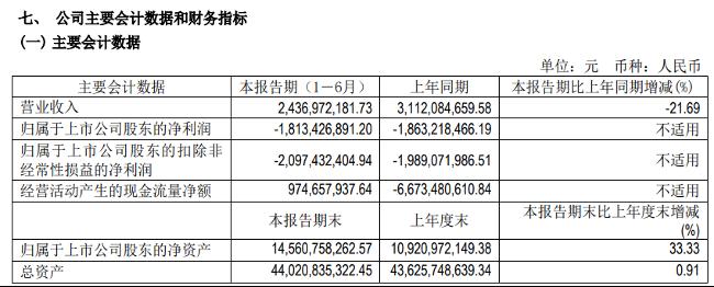 补贴退坡品牌衰落 北汽蓝谷上半年营收同比降21.69%